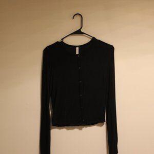 Aritzia Babaton Black Cardigan Top S